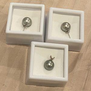 Jewelry - 💯 14K Black Tahitian Pearl Earrings + Pendants